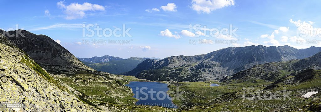 paorama of glacier lake stock photo