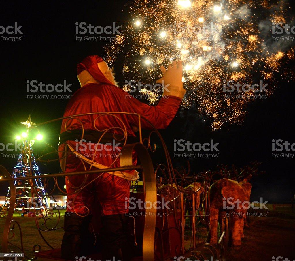 Pap? Noel saludando stock photo