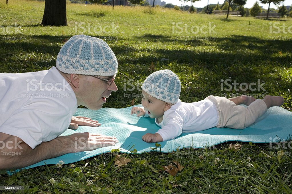 Papa & Baby Boy royalty-free stock photo