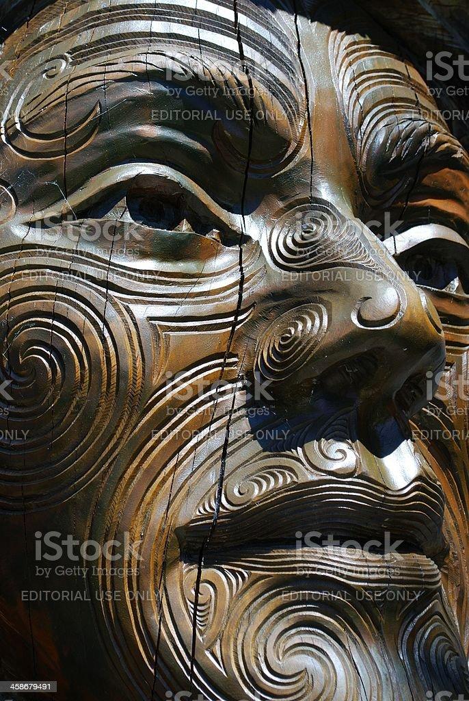 'Papa & Rangi' Sculpture by Brian Woodward & Ken Blum stock photo