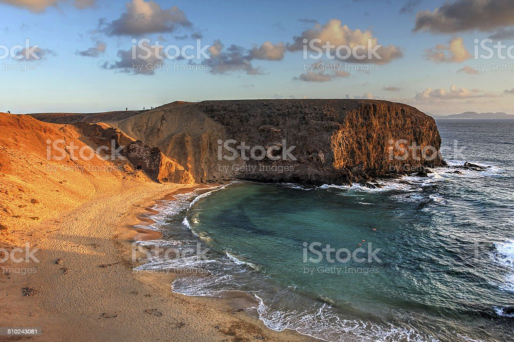 Papagayo Beach, Canaries, Spain stock photo