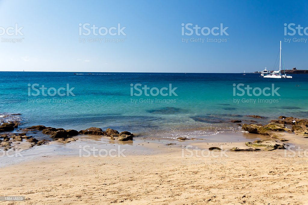 Playa Papagayo,Lanzarote,Spain stock photo