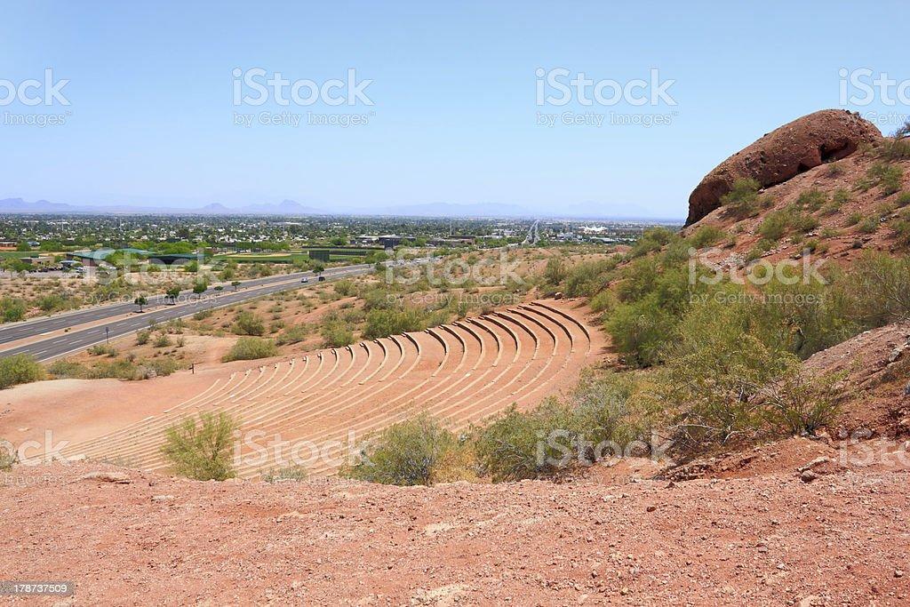 Papago Amphitheater and Scottsdale, AZ royalty-free stock photo