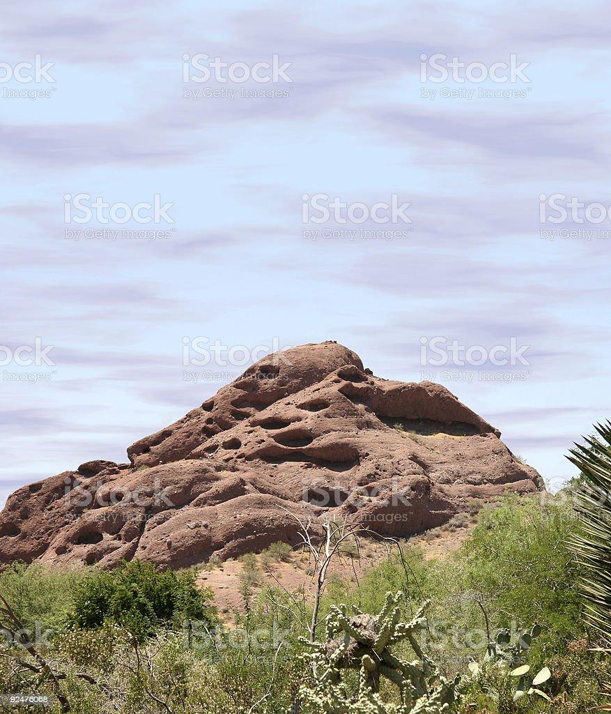 Papago Mountain stock photo