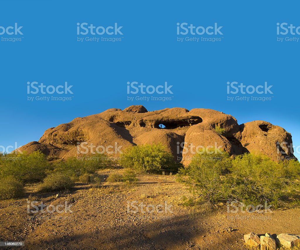 Papago Park Hole in the Rock royalty-free stock photo