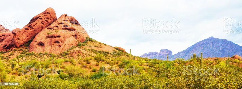 Papago Park Phoenix Arizona Horizontal Banner stock photo