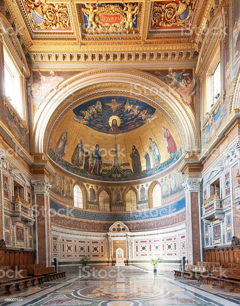 Papal Archbasilica of St. John Lateran (Rome, Italy) stock photo
