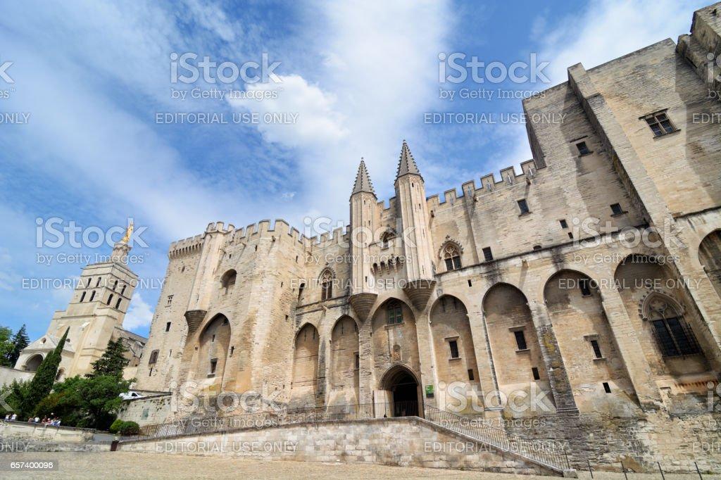 Papal palace, Avignon stock photo