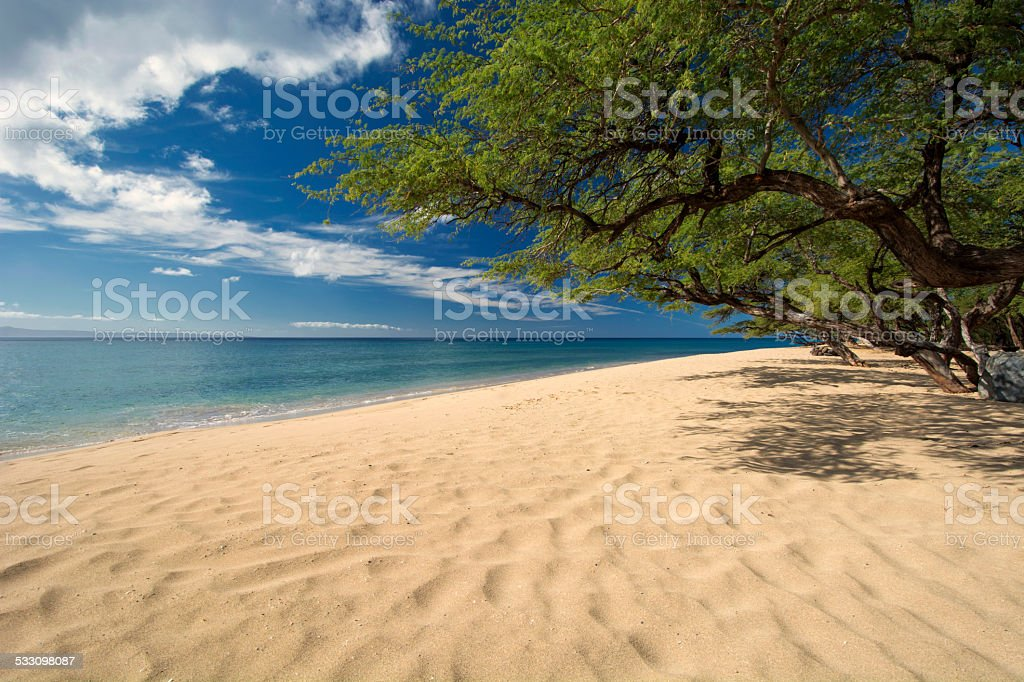 Papalaua Beach, state wayside park, Maui, Hawaii stock photo