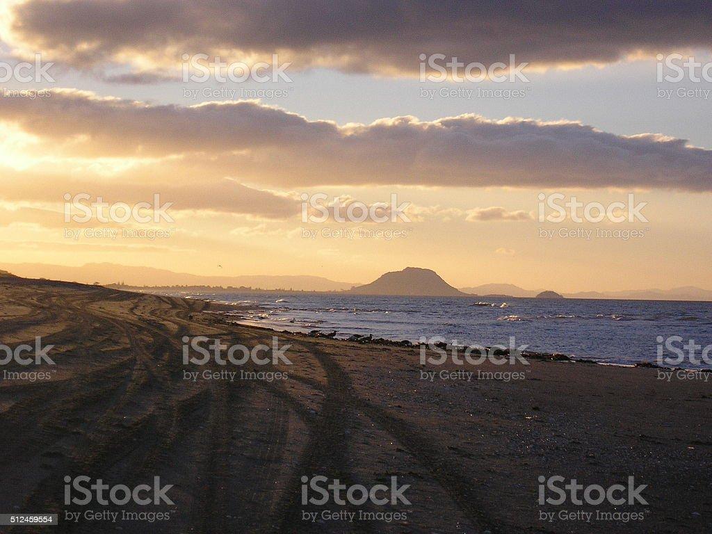 Papamoa Beach, New Zealand stock photo