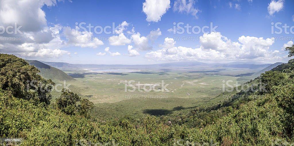 papanorama from Ngorongoro Crater, Tanzania, East Africa stock photo
