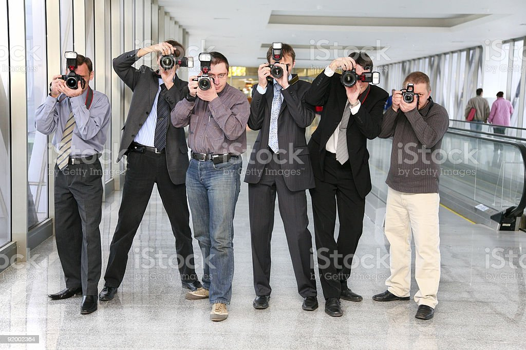 paparazzi 2 stock photo
