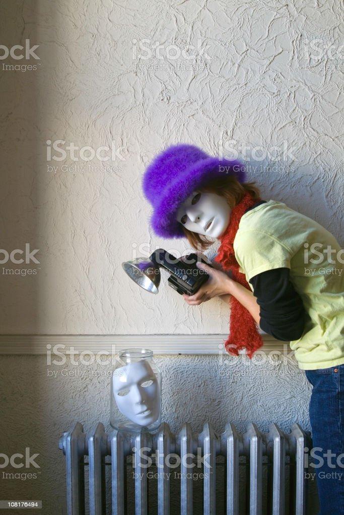 Paparazzi Getting the Shot stock photo