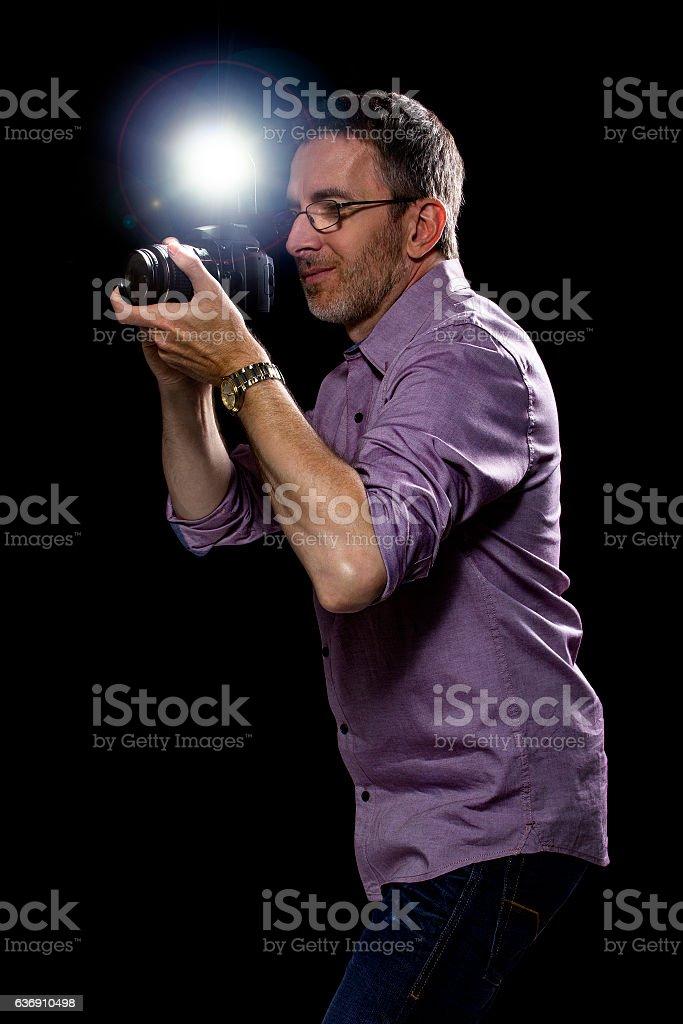 Paparazzi or Editorial Photographer stock photo