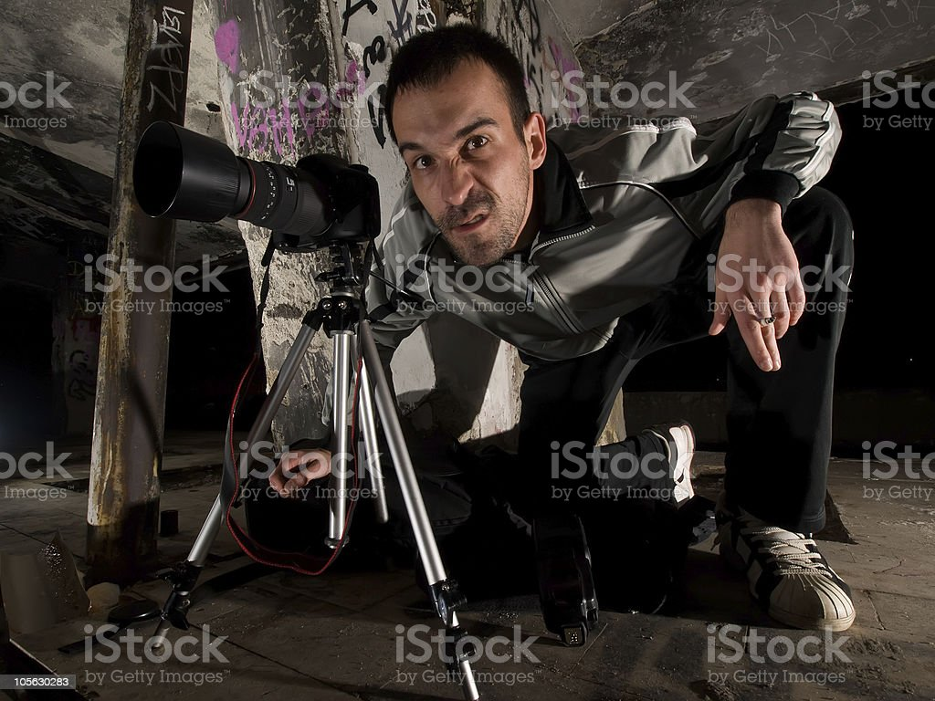 paparazzi photographer stock photo