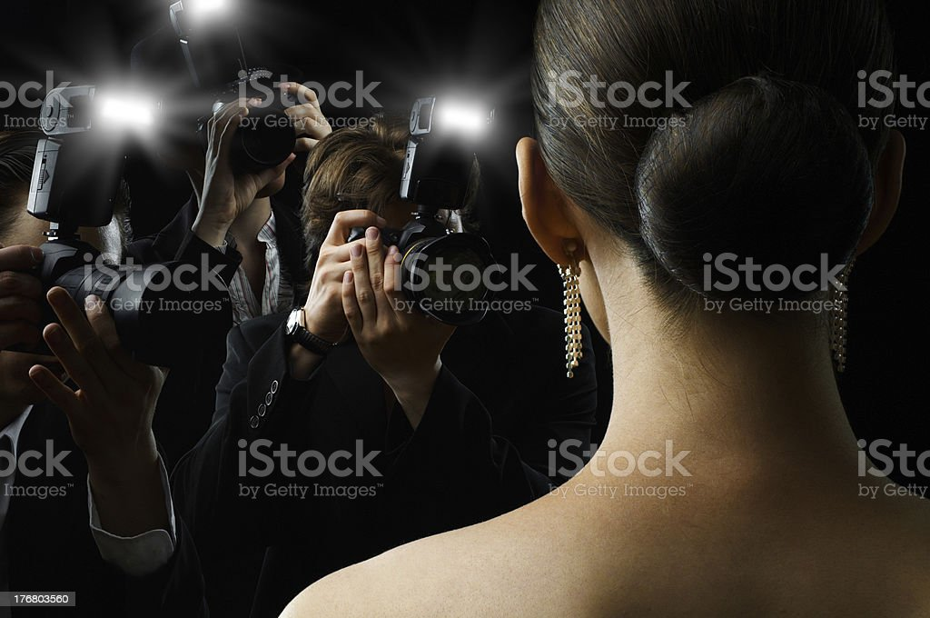 paparazzi stock photo