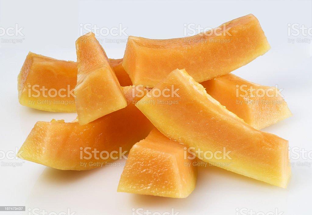 Papaya chunks stock photo