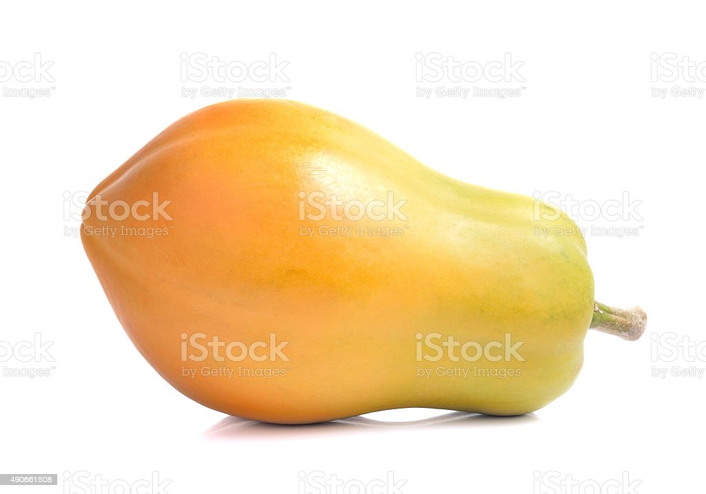 Papaja na białym tle zbiór zdjęć royalty-free