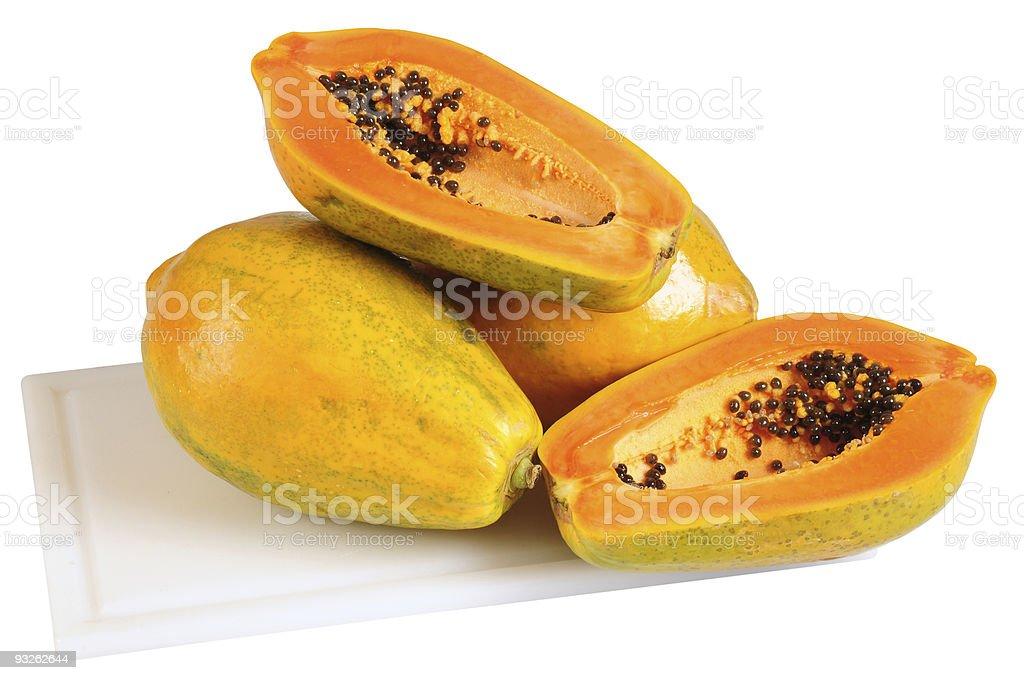 Papaya. royalty-free stock photo