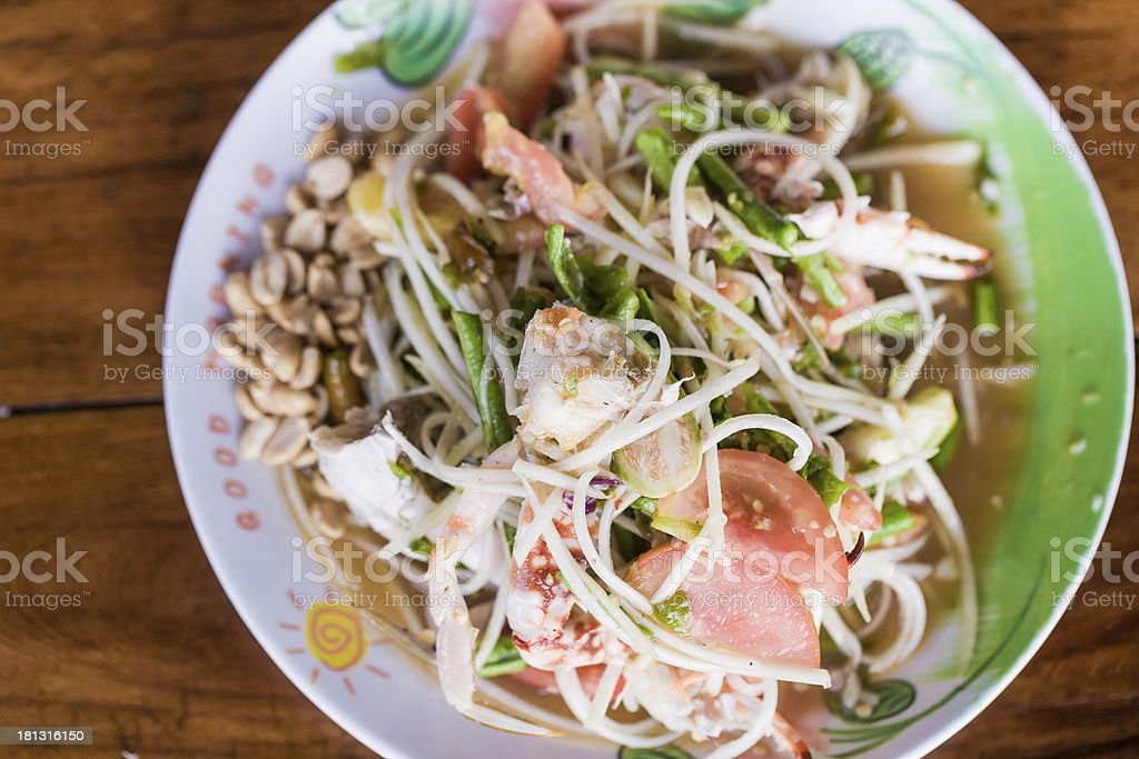 Papaya Salad Thai Style (Som Tum) royalty-free stock photo