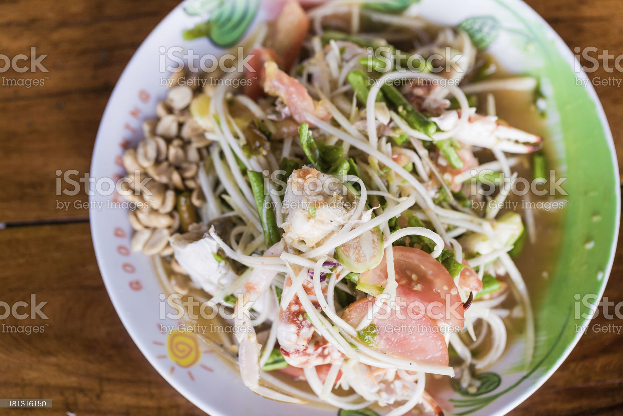 Papaya Salad Thai Style (Som Tum) royalty-free stock photo