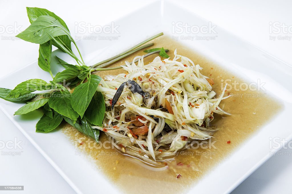 papaya salad with crab royalty-free stock photo