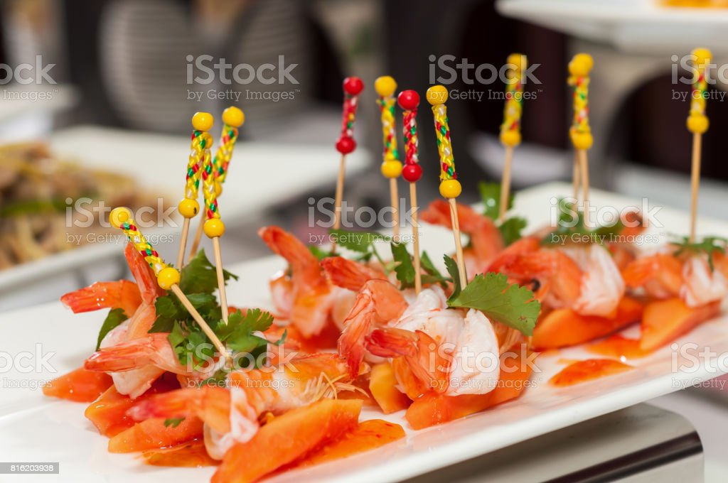 papaya salad with shrimp stock photo