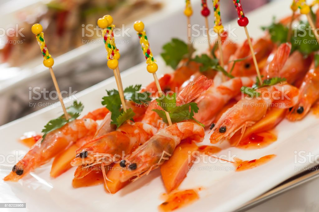 papaya salad with shrimp stock photo