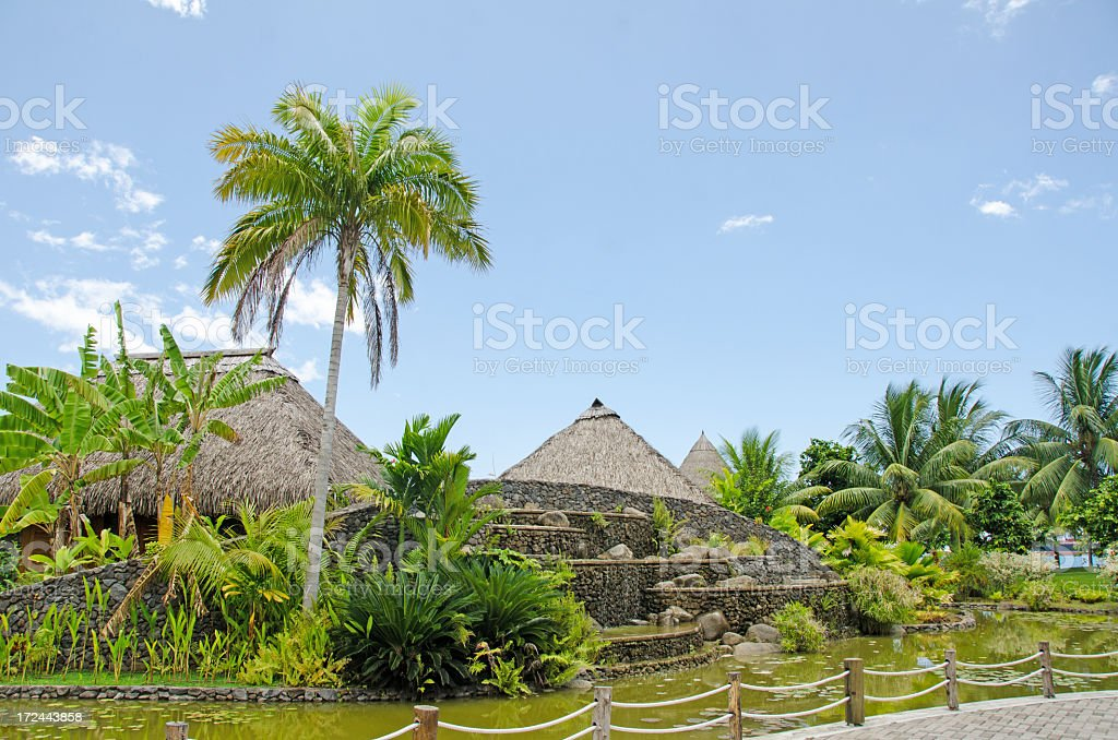 Papeete city on the island of Tahiti in French Polynesia. royalty-free stock photo