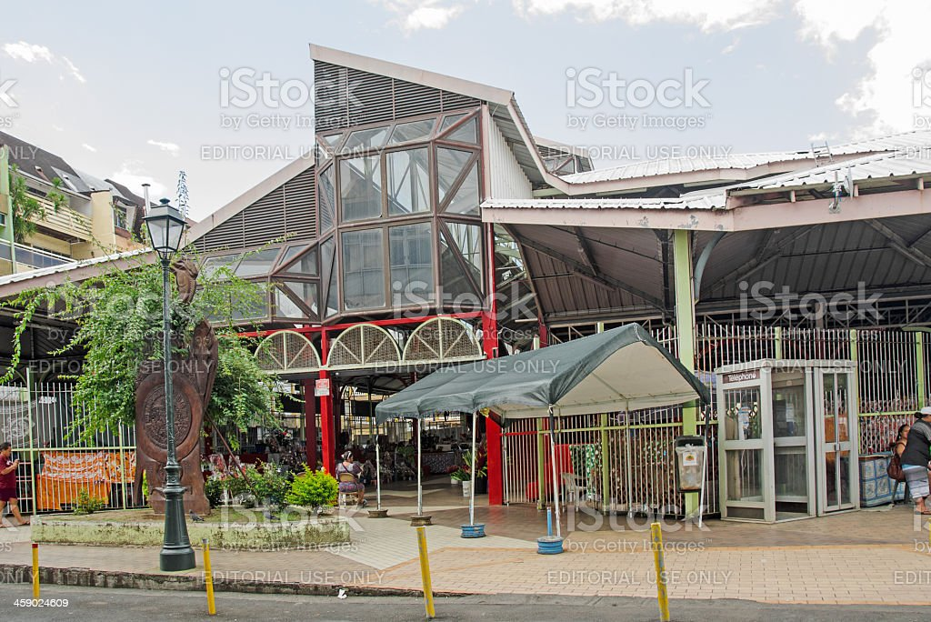 Papeete Public Market Entrance royalty-free stock photo