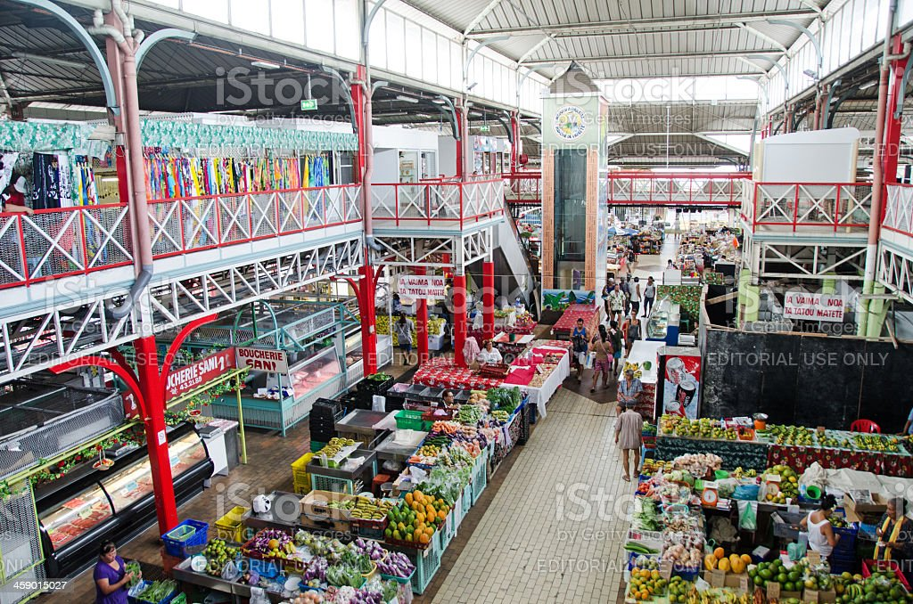 Papeete Public Market... from Above royalty-free stock photo