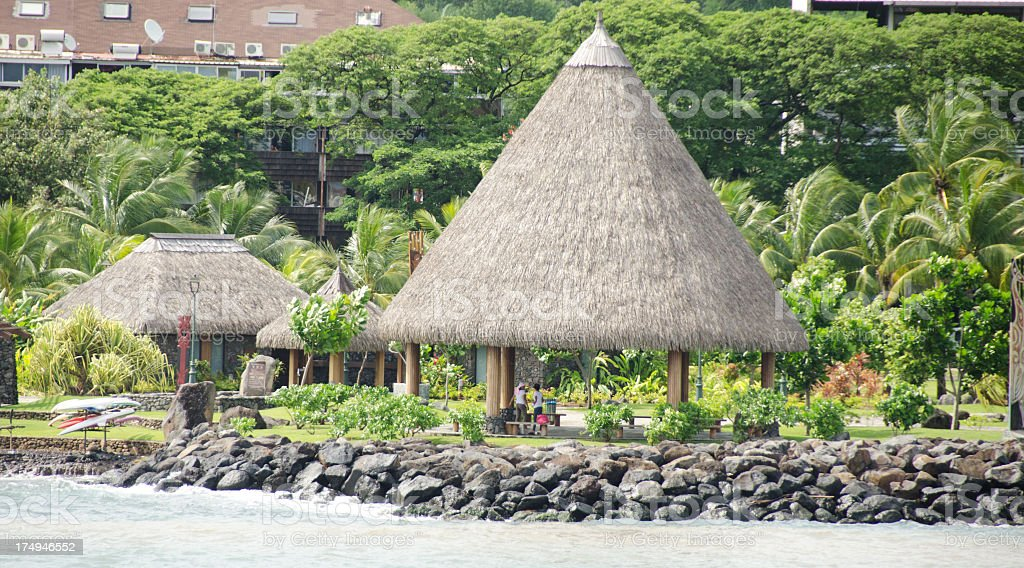 Papeete Shoreline and Cultural Center stock photo