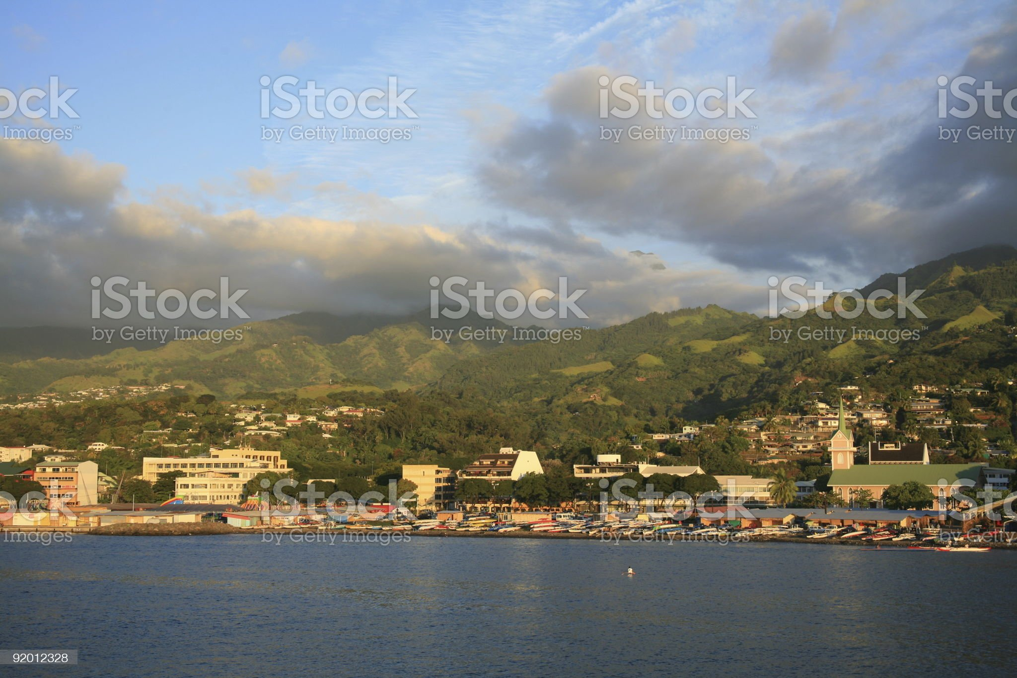 Papeete, Tahiti Waterfront City, French Polynesia royalty-free stock photo