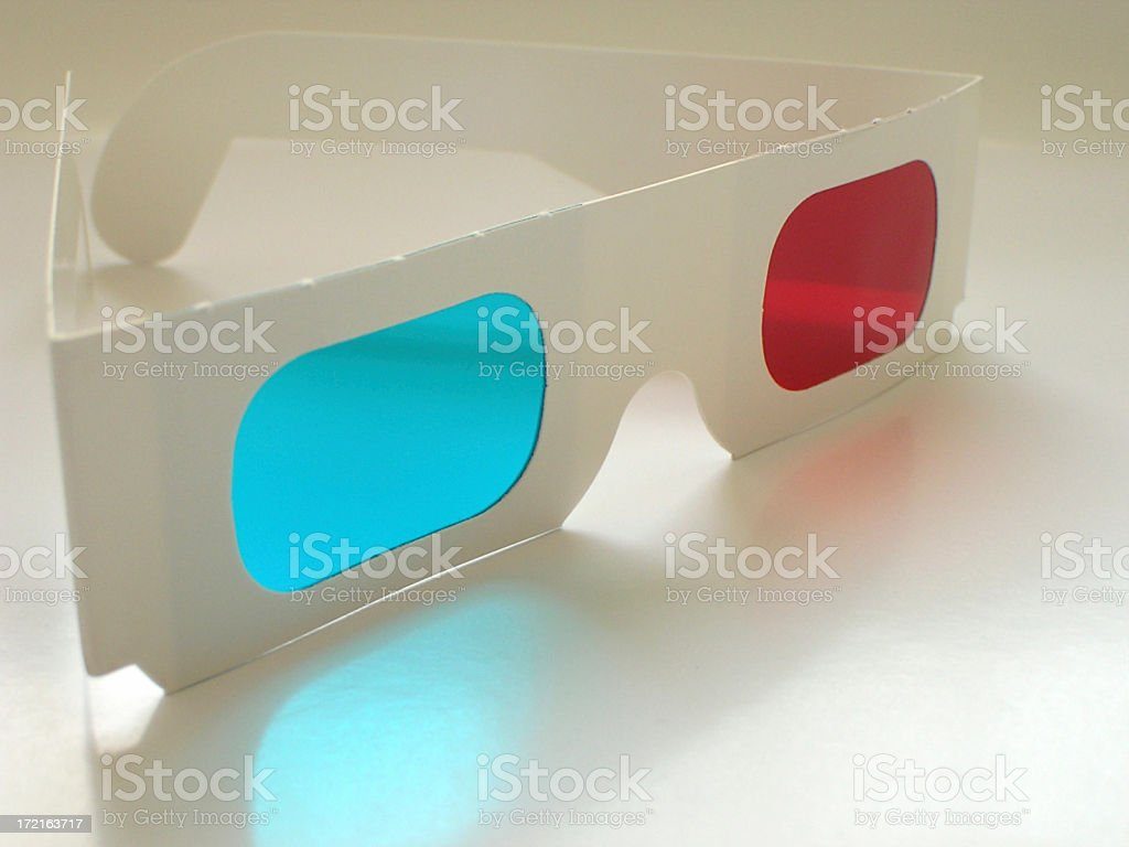 Paper 3D glasses (3) royalty-free stock photo
