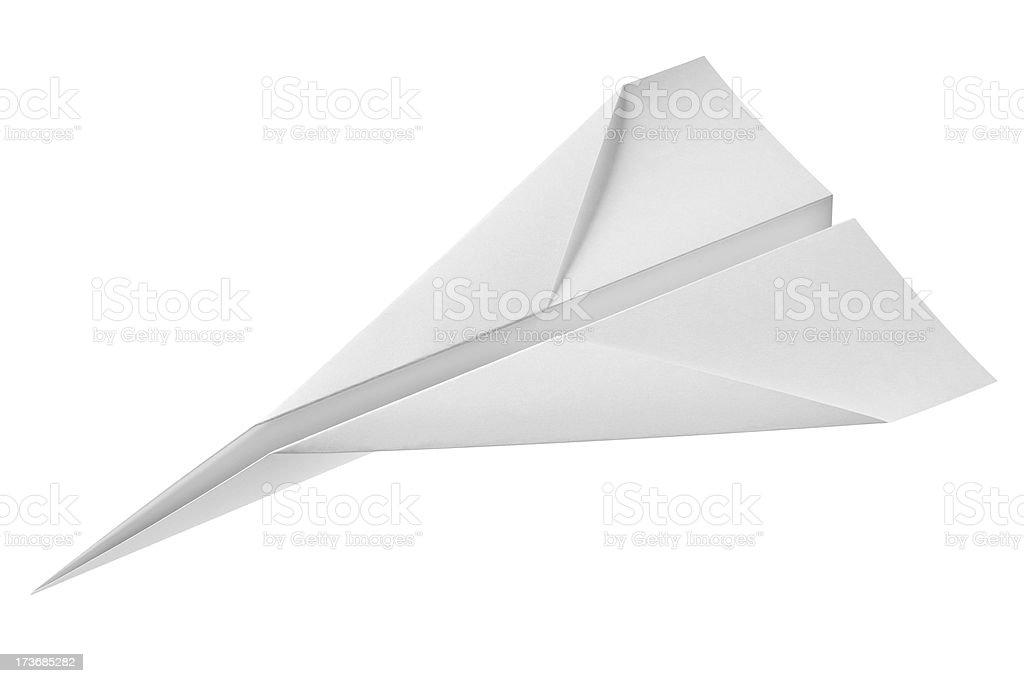 Paper airplane stock photo