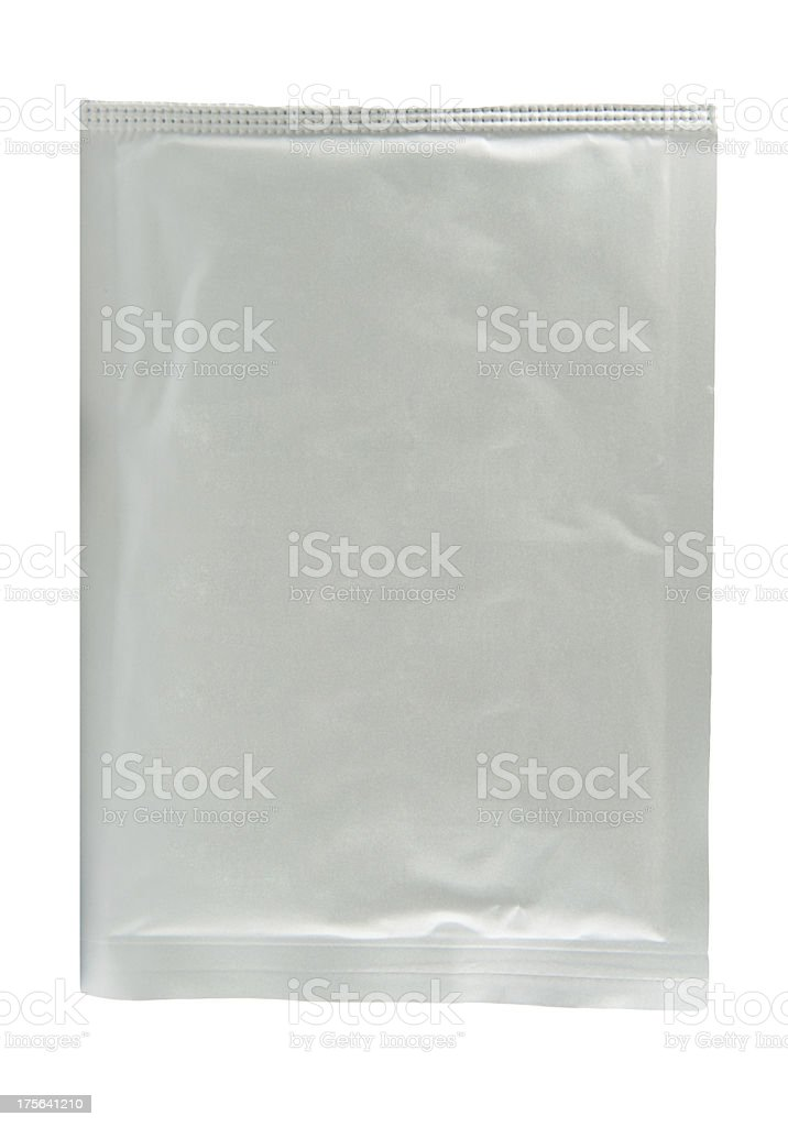 paper and aluminum foil sachet for medicine powder royalty-free stock photo