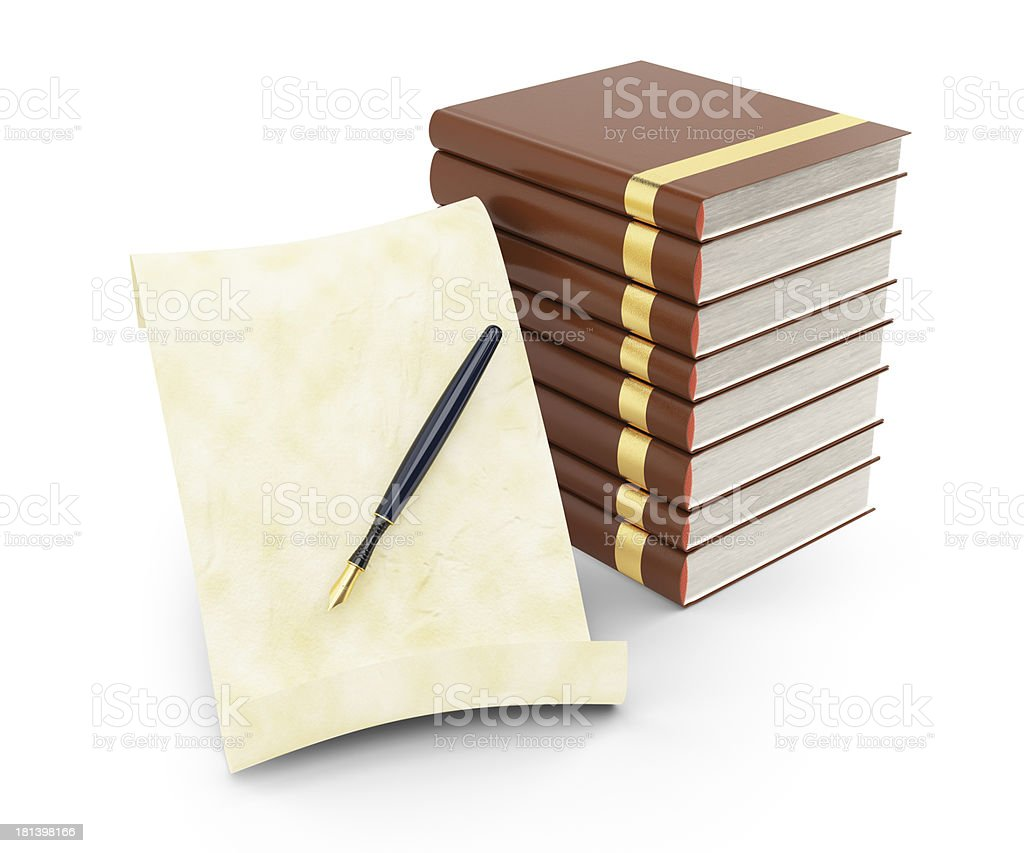 paper and books royalty-free stock photo