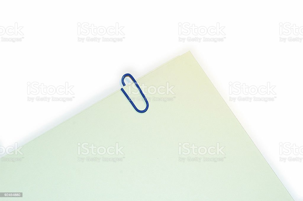 paper and clip stock photo