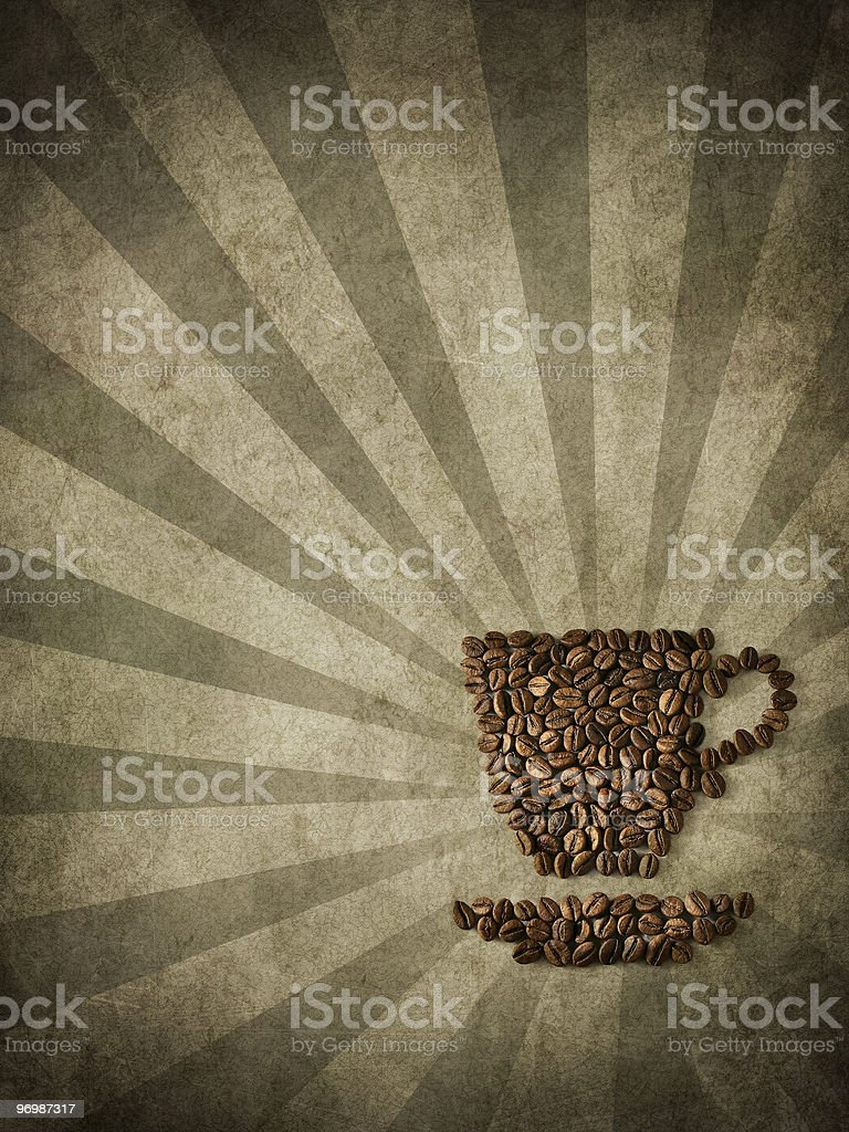 paper and coffee royalty-free stock photo