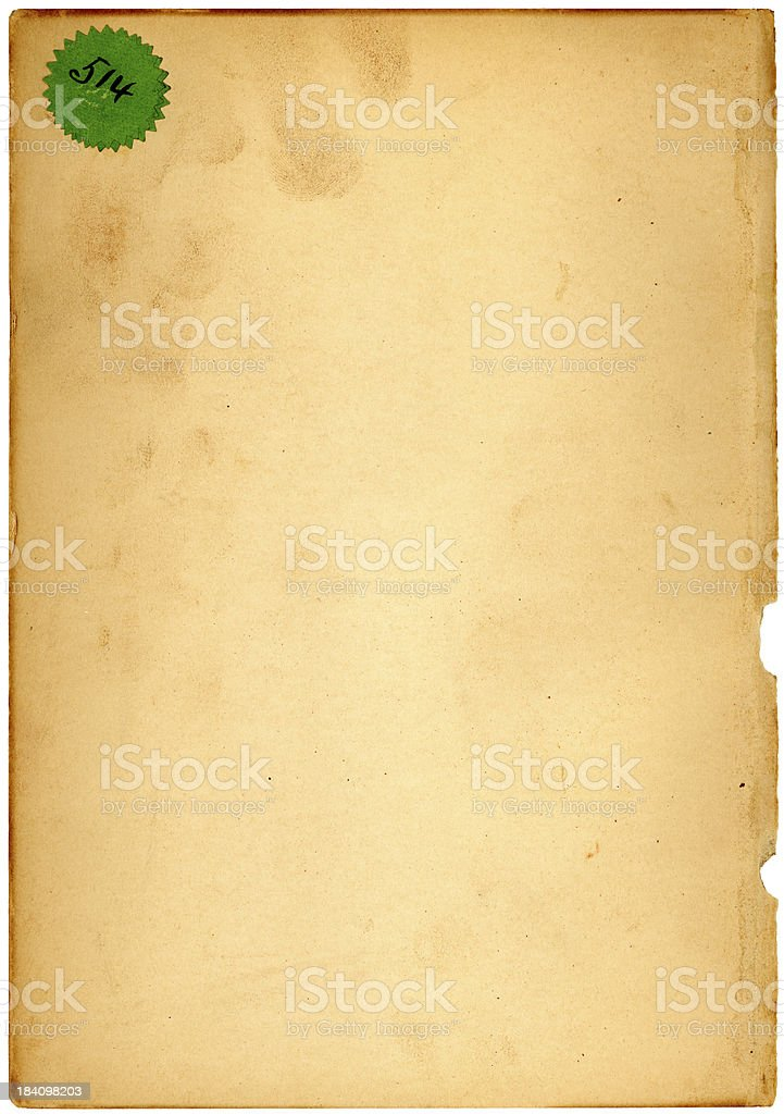 paper and green star royalty-free stock photo