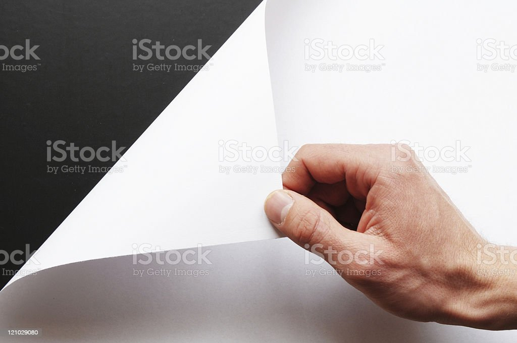 paper and hand royalty-free stock photo