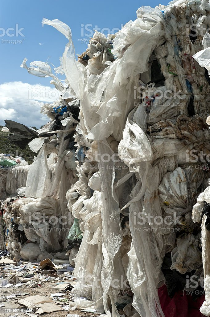 Paper and plastic recycling royalty-free stock photo