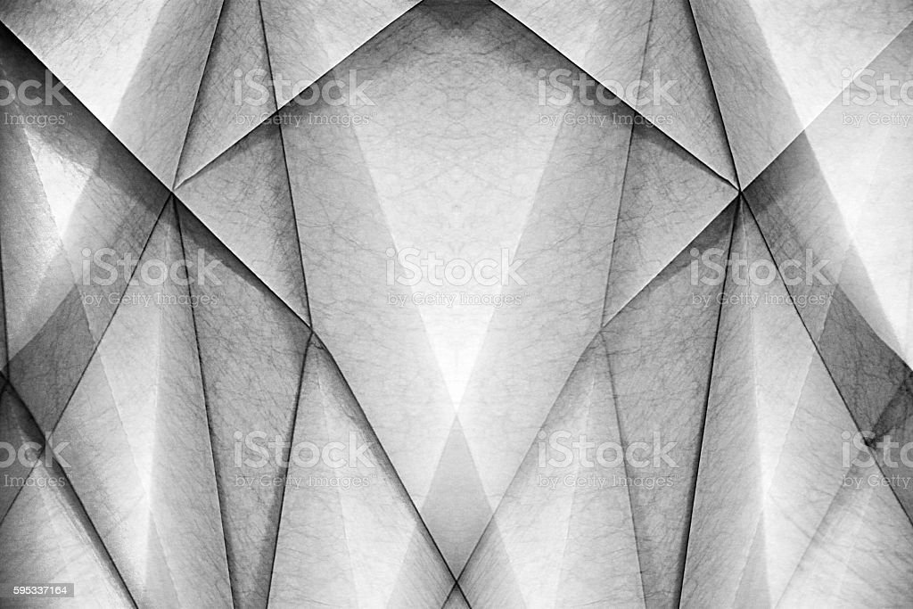 Paper architecture. Maquette of polygonal decorative ceiling / wall panel stock photo