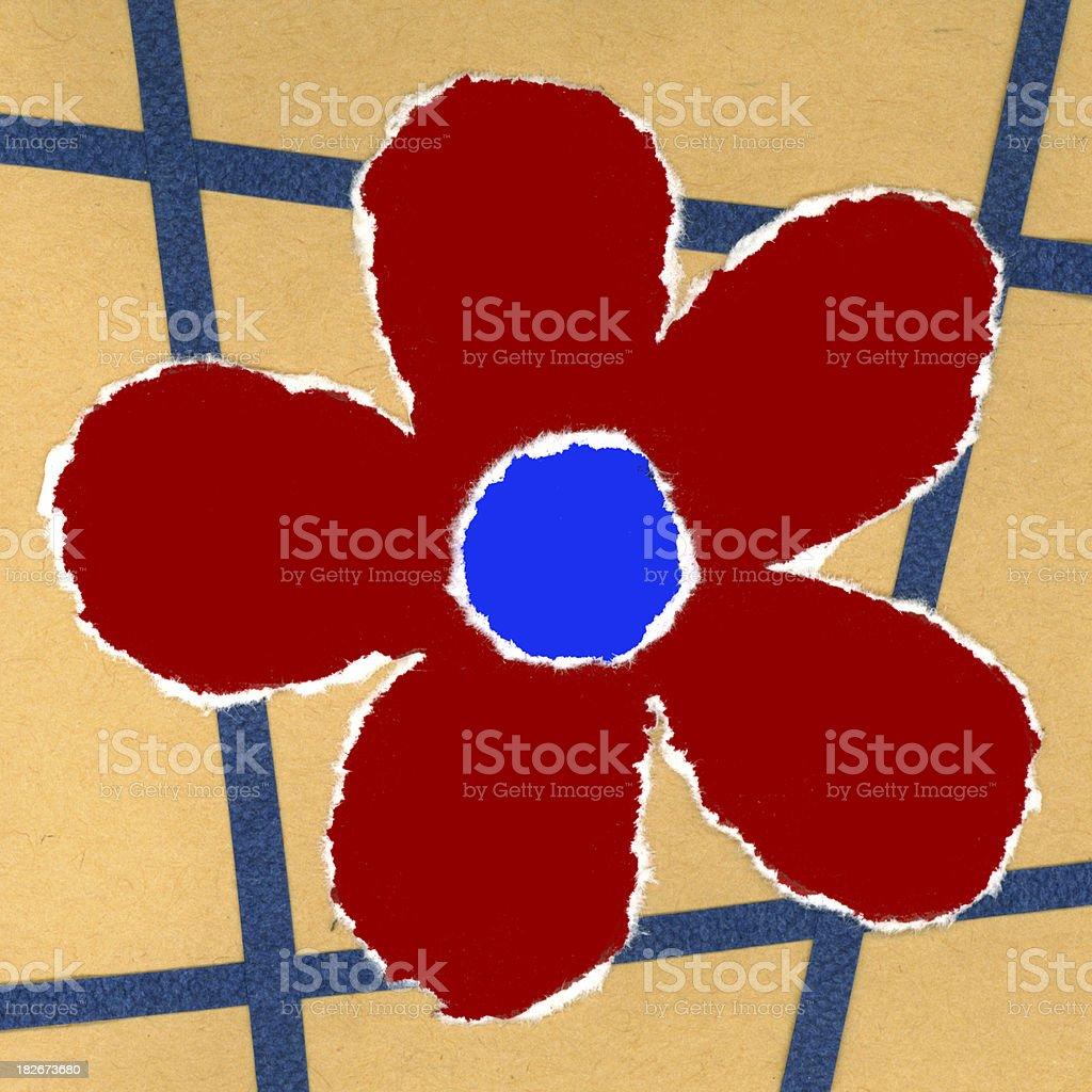 paper art - flower royalty-free stock photo