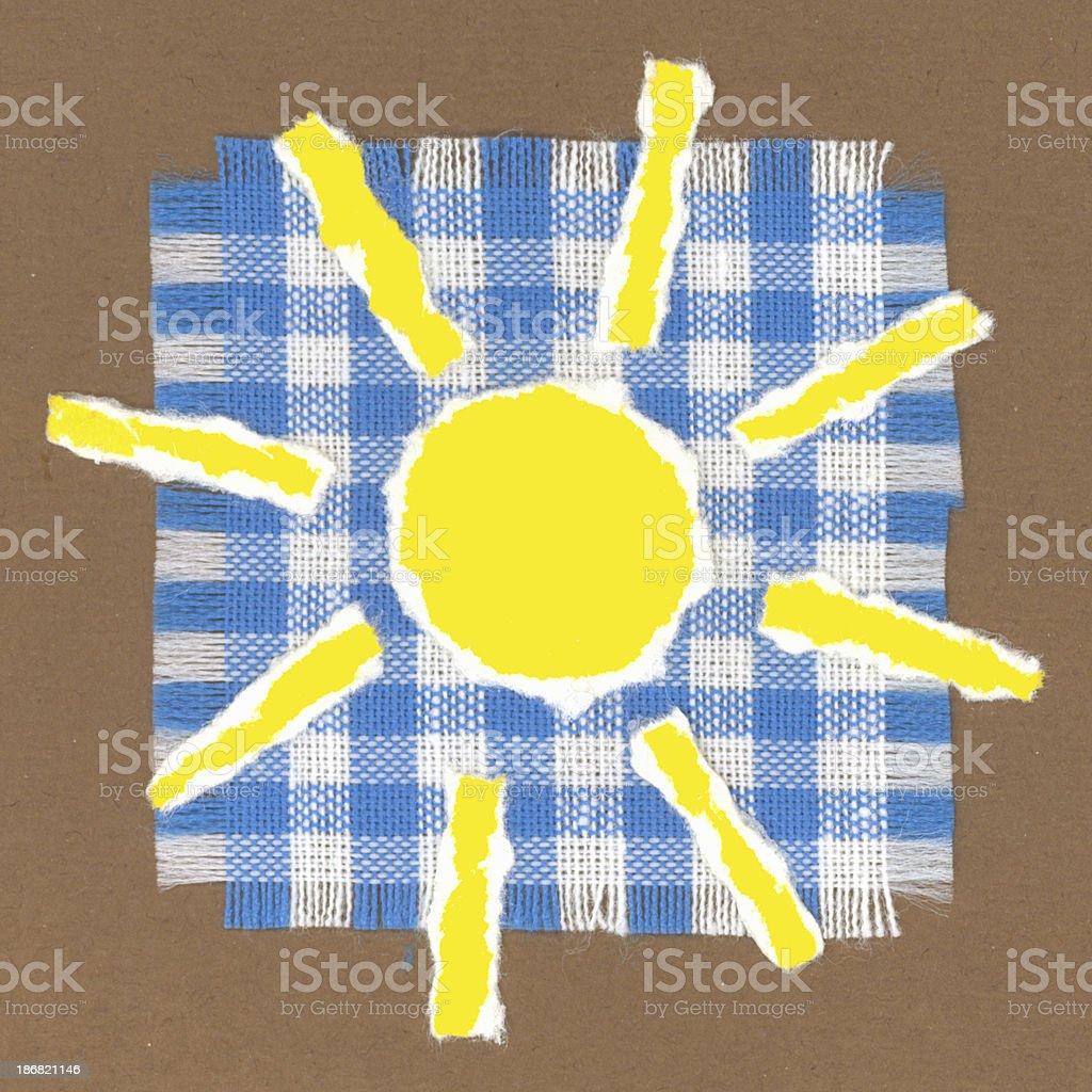 paper art - sun royalty-free stock photo