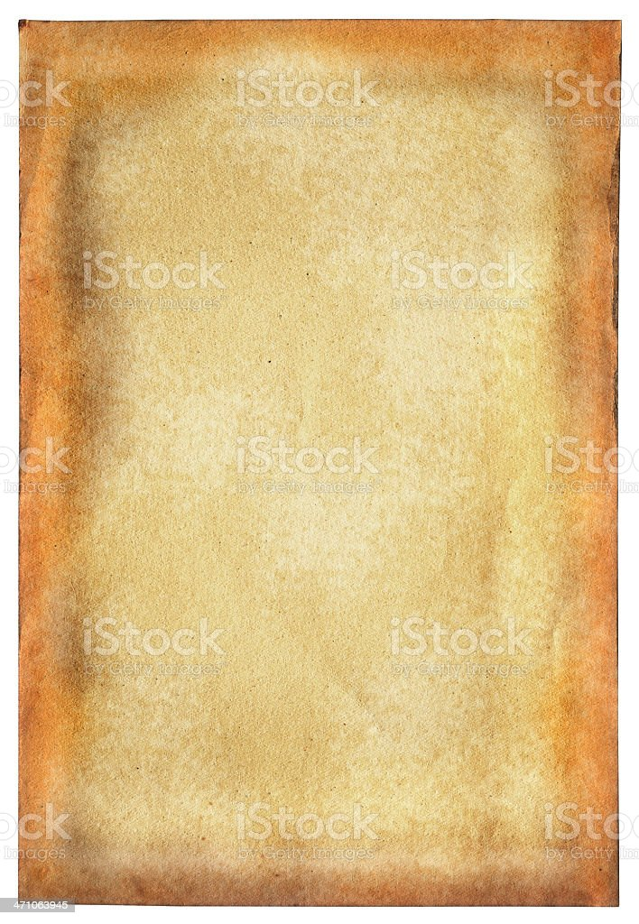 paper background page on white royalty-free stock photo