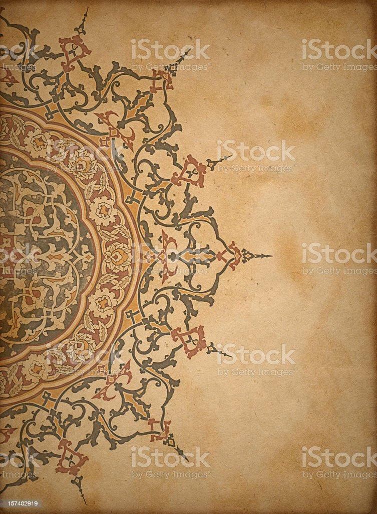 Paper Background (Turkish & Islamic) royalty-free stock photo
