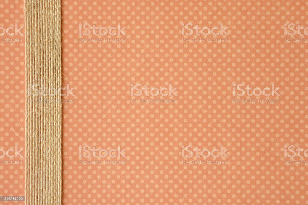 Paper Background with a Burlap Ribbon stock photo