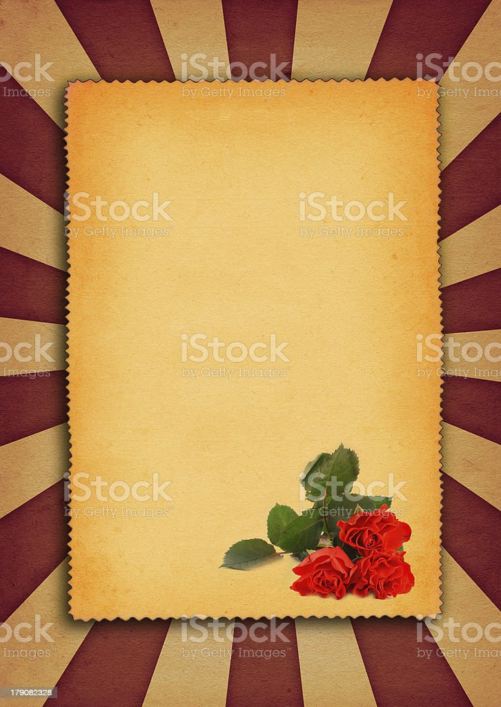paper background with flower motive royalty-free stock photo