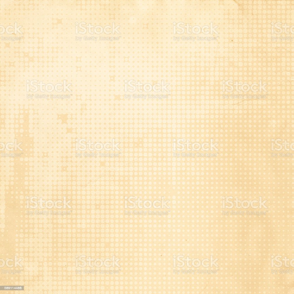 Paper background with halftone patterns. stock photo